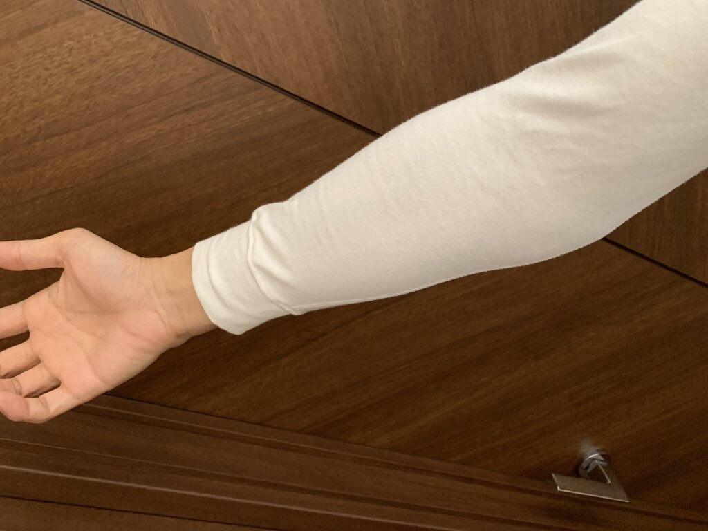 ZOZOHEAT COTTONの腕